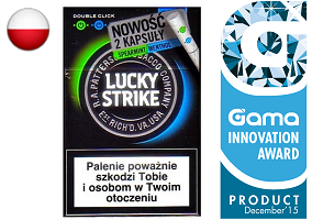 gama innovation award lucky strike double click cigarettes gama. Black Bedroom Furniture Sets. Home Design Ideas