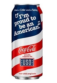 "USA: Coca-Cola releases ""patriotic"" can design"