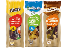 UK: Mars launches trail mixes based on confectionery brands